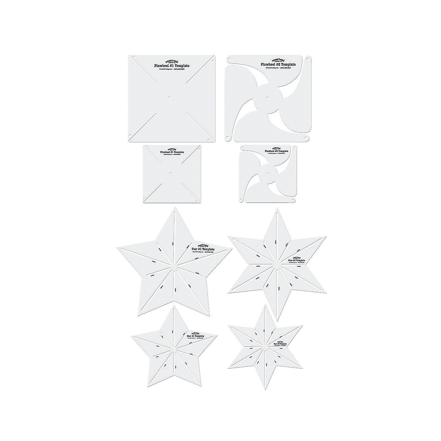 Pinwheel & Star Templates - Put a spin on your scrapbooking projects ...