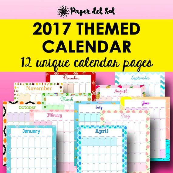 Monthly Planner Printable, Monthly Calendar Printable 2017 These - printable 2017 calendar