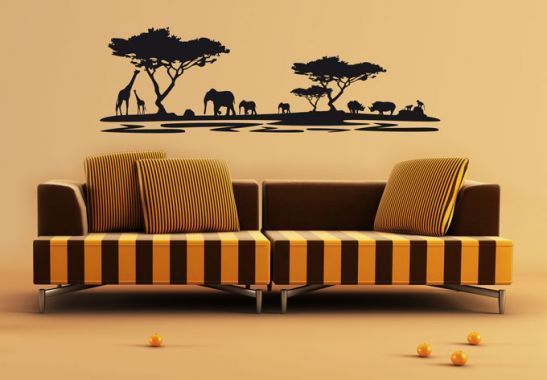 Wohnzimmer Afrika ~ Wandtattoo afrika dekoration room ideas and walls