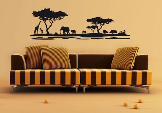 Wandtattoo Afrika 5 Wohnzimmer wall art, Deko für wohnzimmer und - wandtattoos f r wohnzimmer
