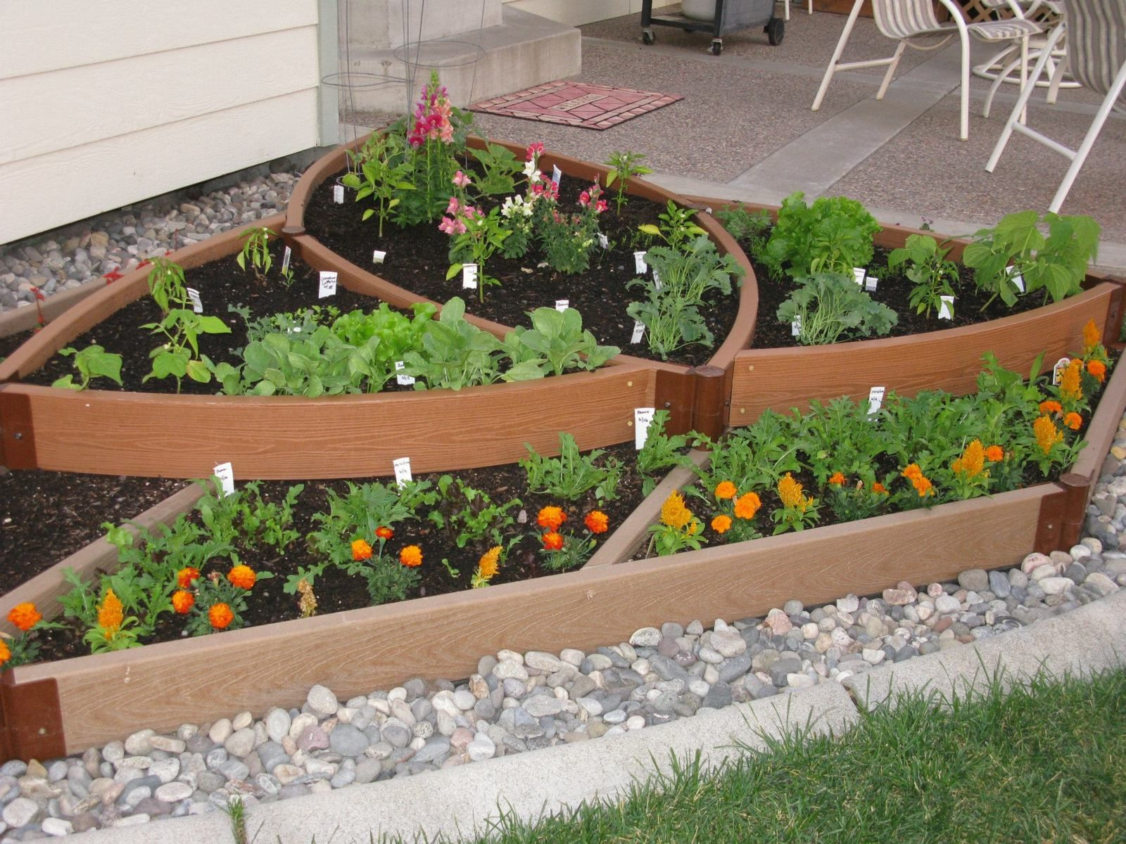 Designing A Vegetable Garden With Raised Beds raised bed vegetable gardengate and fence attached right to beds Find This Pin And More On Gardening In Raised Beds Vegetable Garden Design