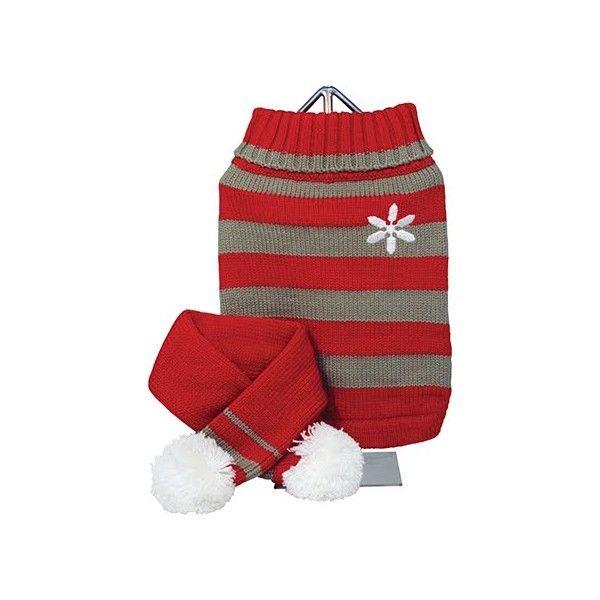 Precioso Suéter de lana y cuello alto con Bufanda a juego.Ideal para  perritos muy 06649510c01