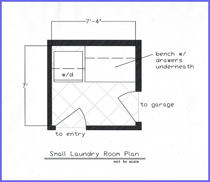 Small laundry room condo small laundry rooms small - Laundry room floor plans ...