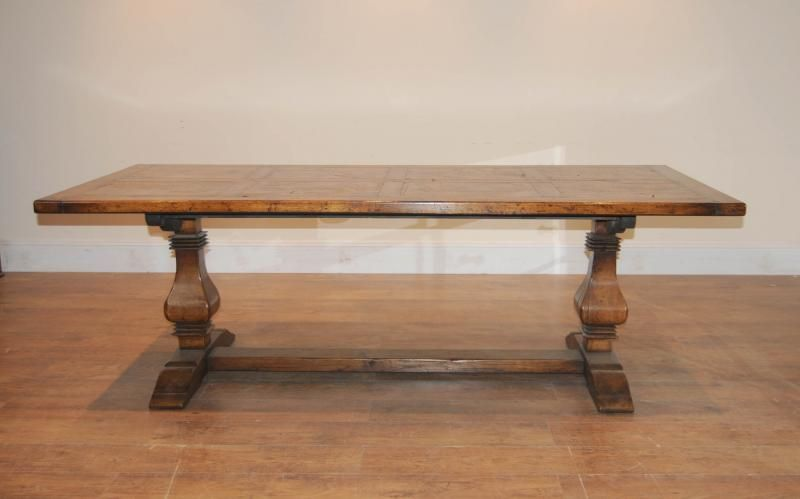 Captivating Kitchen Refectory Trestle Dining Table In Oak