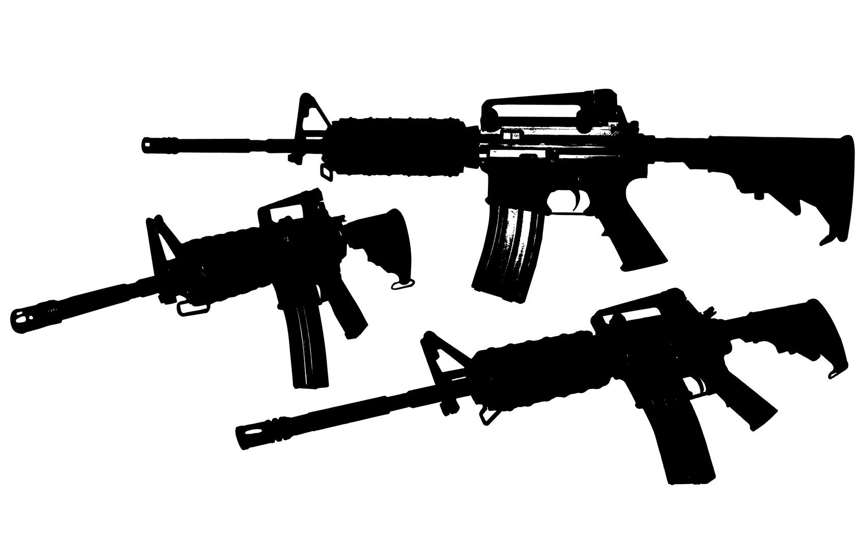 M4 Rifle Vector Eps File