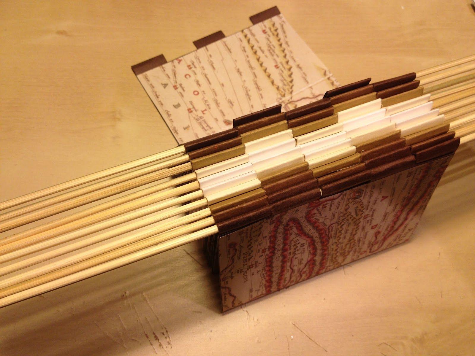 Bumbling Along How To Make A Piano Hinge Book Book Binding Methods Bookbinding Book Binding