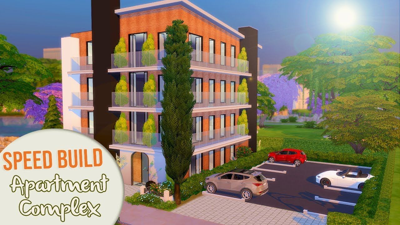 The Sims 4 Speed Build Apartment Complex All Cc Links Sims 4