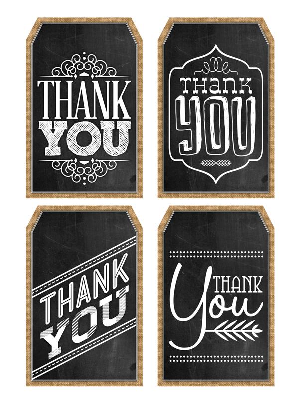 Free Printable Chalkboard Thank You Tags The Cottage Market Chalkboard Tags Thank You Printable Printable Tags