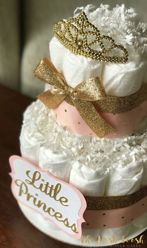 pink and gold diaper cake baby shower centerpiece baby shower decor