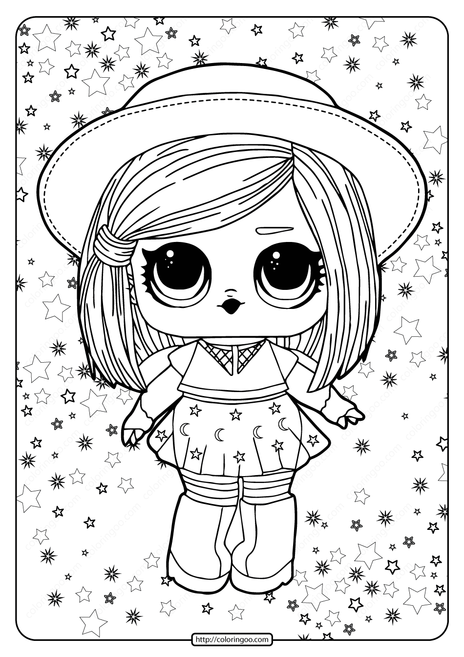Lol Surprise Hairgoals Witchay Babay Coloring Page In 2020 Free Kids Coloring Pages Cool Coloring Pages Cartoon Coloring Pages