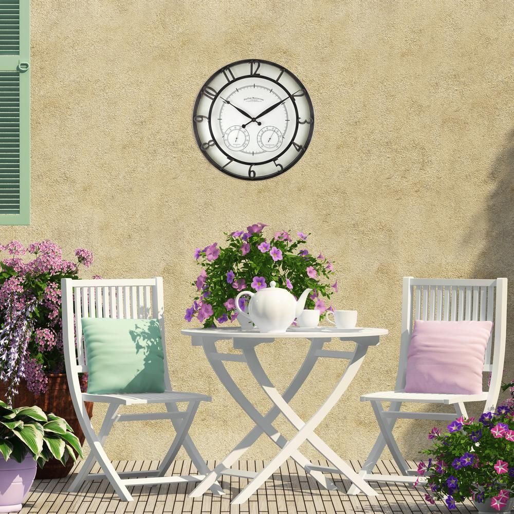 18 in. Round Park Outdoor Wall Clock | Pinterest | Outdoor wall ...