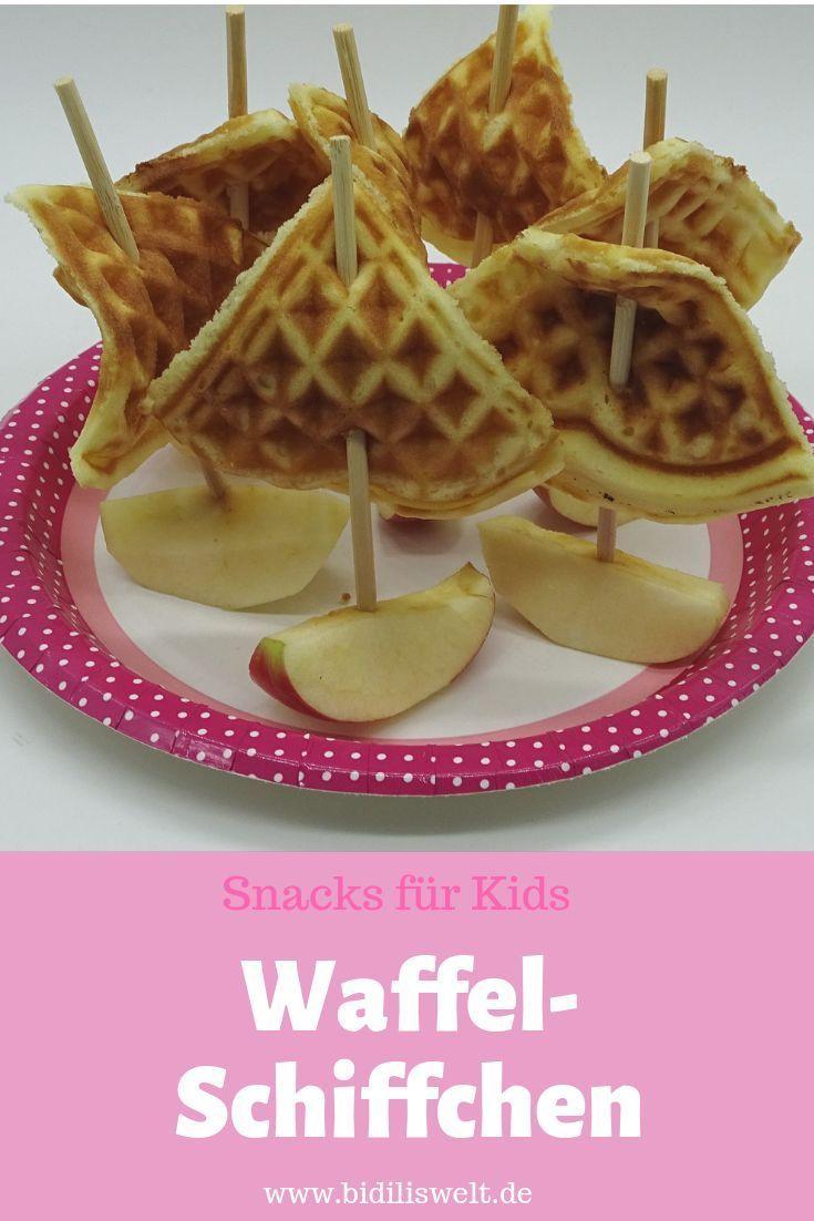 waffel schiffchen #childrenpartyfoods