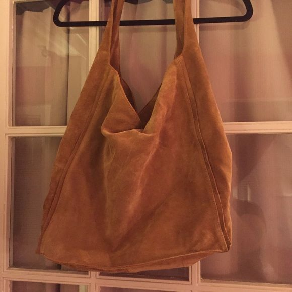 Aritzia Auxiliary Silo Hobo Bag in brown suede NEW Never used ...