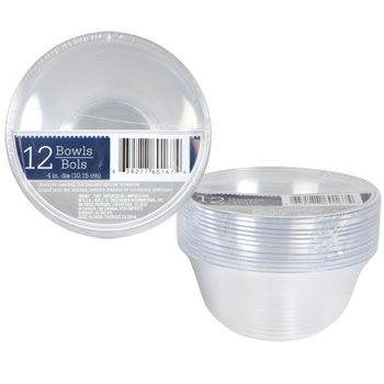 sc 1 st  Pinterest & Bulk Clear Plastic Bowls 4 in. 12-ct. Packs at DollarTree.com