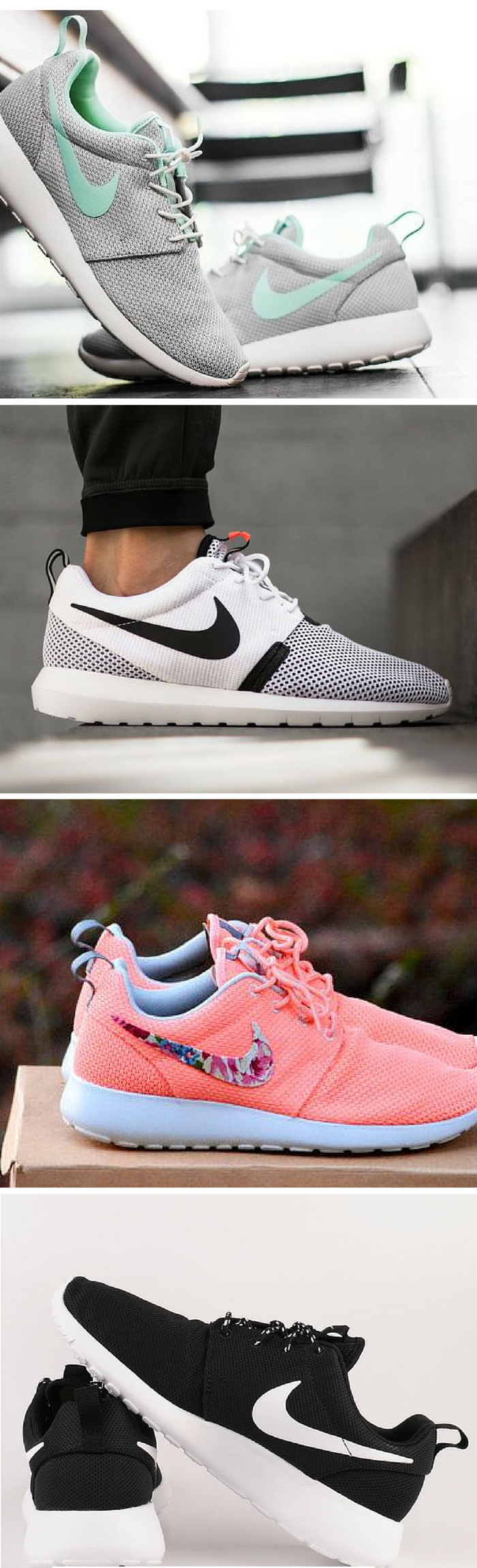 Im gonna love this site! How cute are these Nike running shoes ...