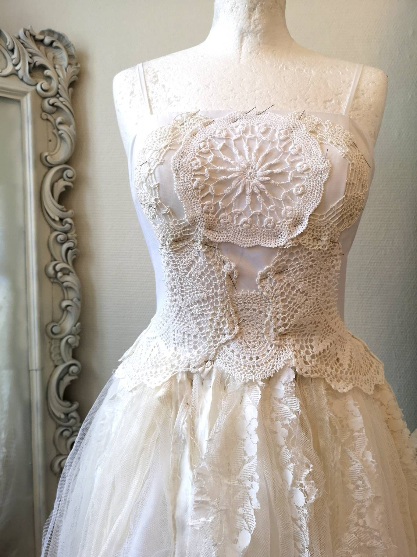 White wedding dressboho wedding lagenlookbeach wedding dress