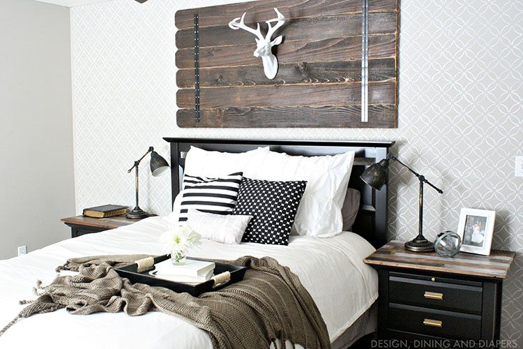 20 Inspiring Modern Rustic Bedroom Retreats Wall Decor Bedroom Modern Cabin Decor Modern Rustic Bedrooms
