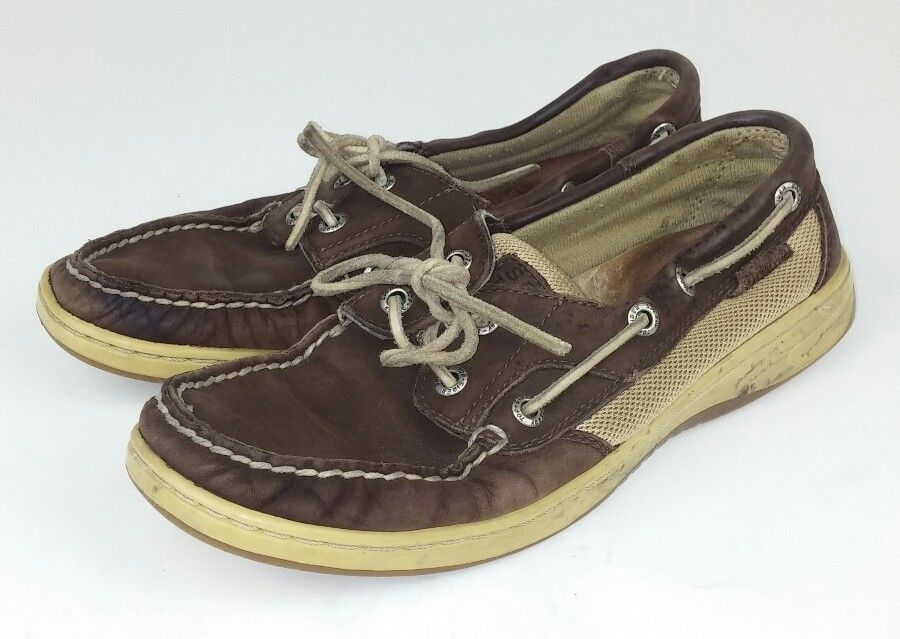 08af6d272687 Sperry Top-Siders Women s Size 7 Shoes Loafers Brown Leather 9767757  Bluefish  Sperry