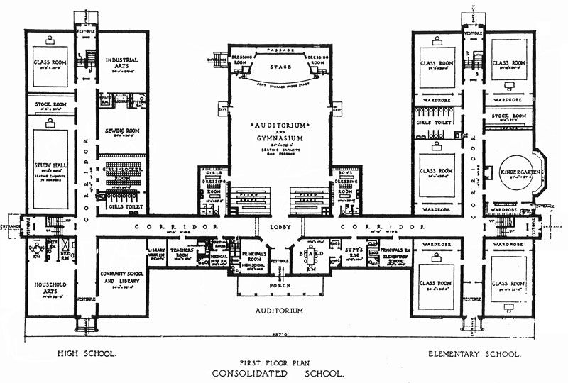 Consolidated School Jpg 800 540 School Building Plans School Building Design School Floor Plan