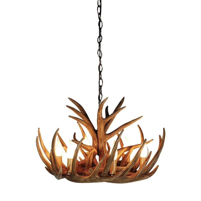 Small 6 bulb stag antler chandelier light home sweet log home kensington tall antler chandelier kensington from house of isabella uk aloadofball Images