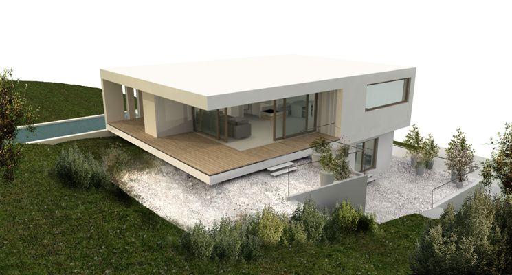 Haus am hang haus und grundriss for Einfamilienhaus am hang grundrisse