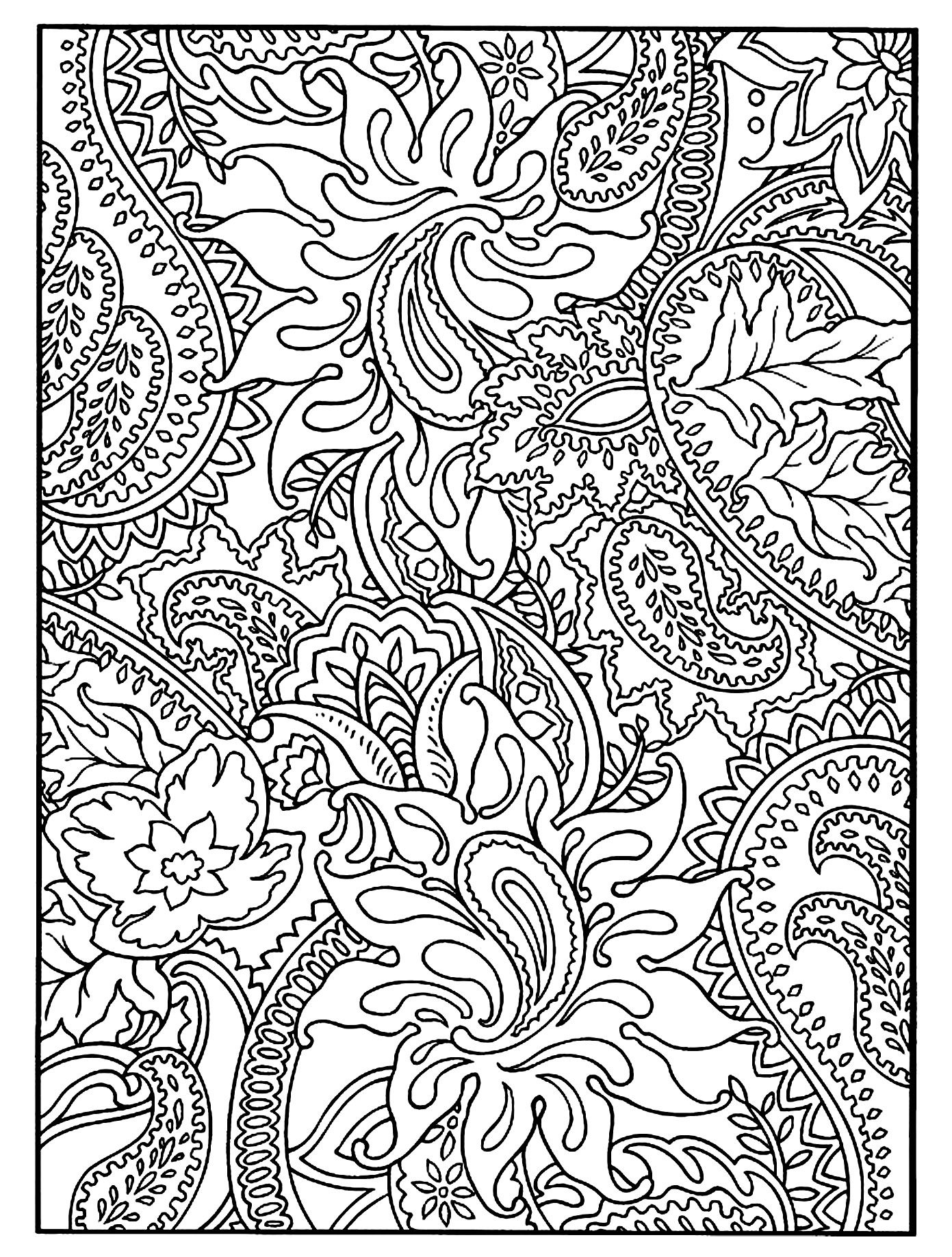 pattern coloring pages print out - photo#6