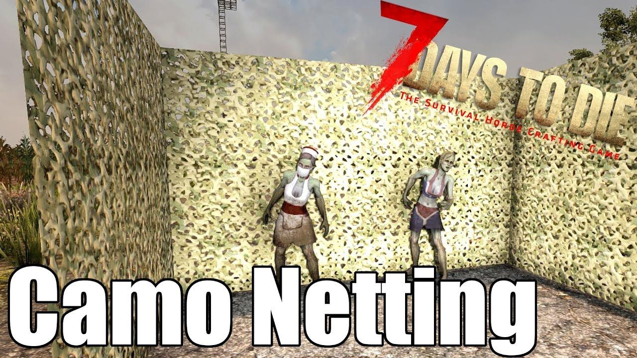 7 Days To Die Camo Netting Can Camo Hide You From A Horde 7