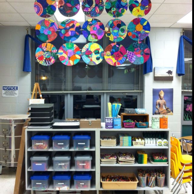 My Artroom. Art Centers, 5th Grade Design Disk Display
