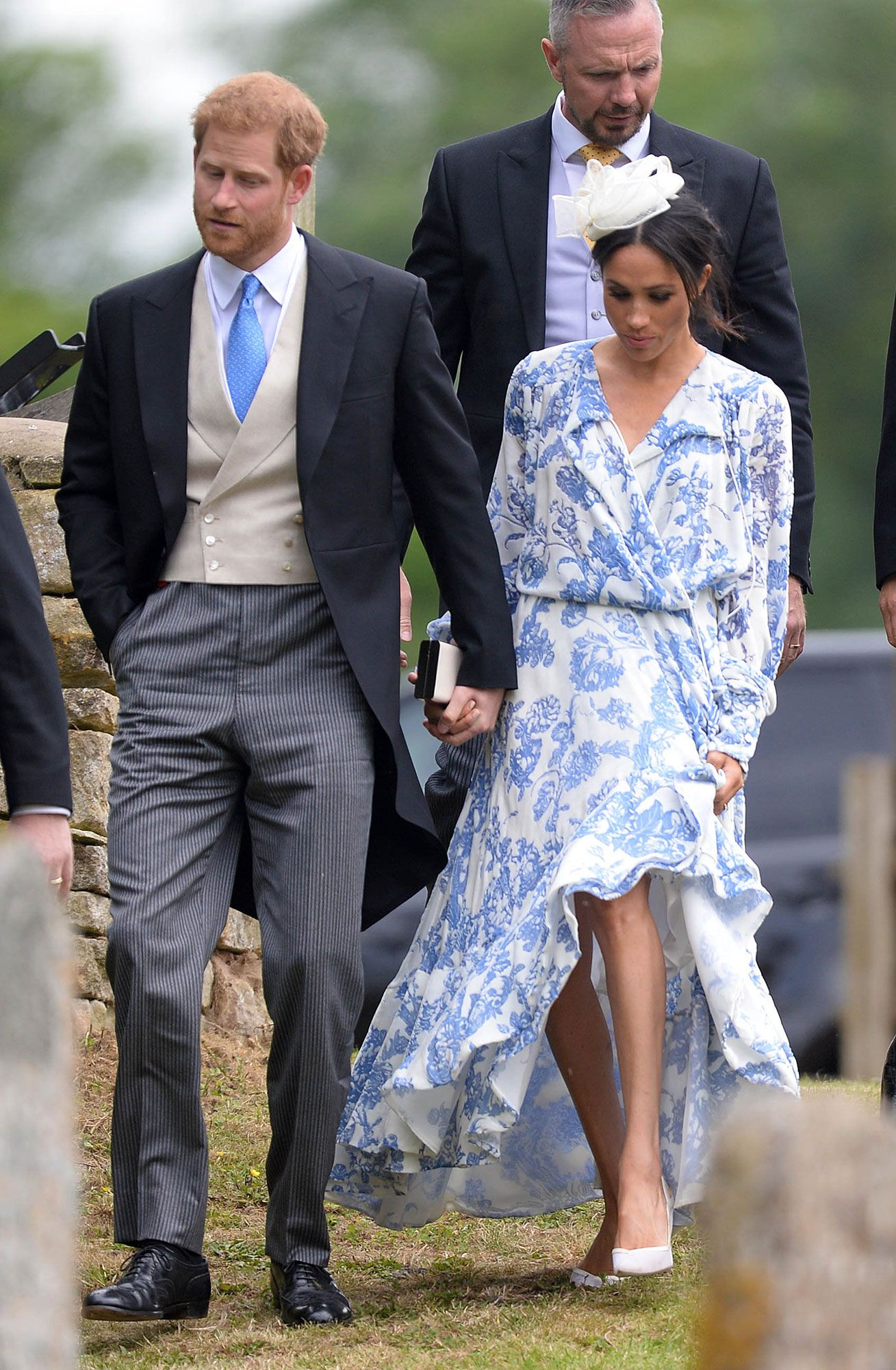 d50fff1fa36 Meghan Markle Goes Floral   Coordinates with Prince Harry at Wedding of  Princess Diana s Niece