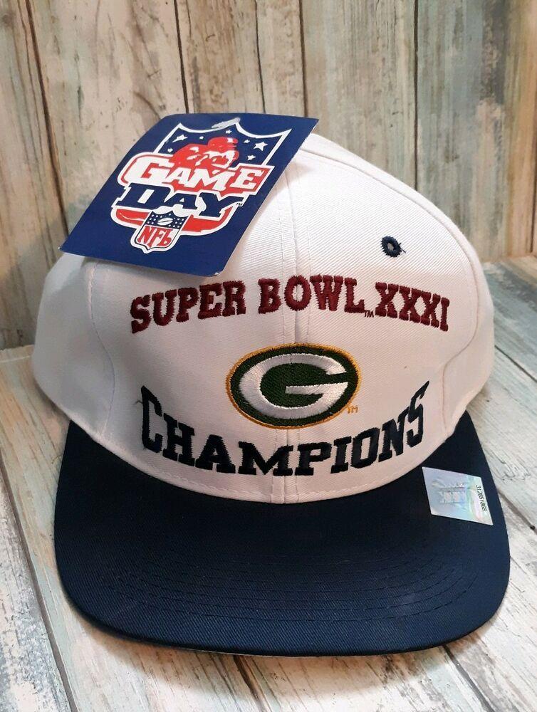 6b11e60dd78d2 90s VTG Green Bay Packers Logo 7 Athletic SnapBack Hat NWT Super Bowl  Champions  Logo7  GreenBayPackers
