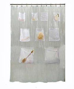 Clear Pockets Shower Caddy Google Search Vinyl Shower Curtains