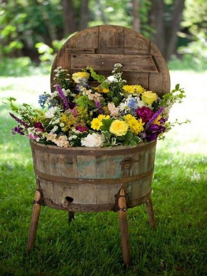 Ausgefallene Gartendeko Selber Machen Upcycling Ideen Diy Deko Grelle Farben