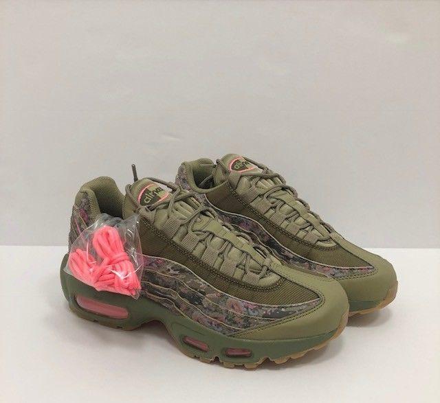 94e36a071d 120.00 | Nike Womens Air Max 95 Neutral olive arctic punch AQ6385-200  Multiple Sizes New ❤ #nike #womens #neutral #olive #arctic #punch #aq6385  #multiple ...