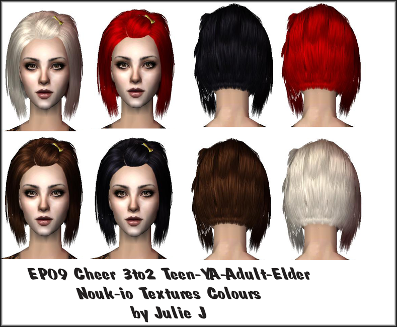 TS3 to TS2 Conversions List - cute hair style for younger working sims