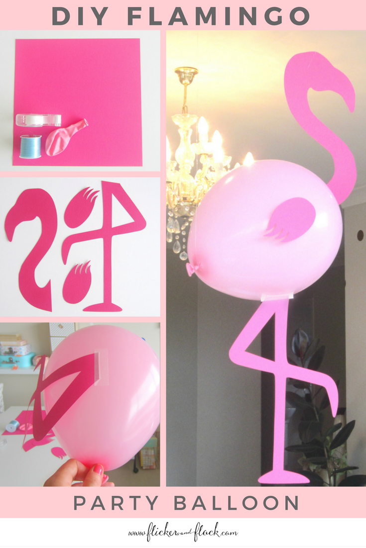 Easily create your own flamingo balloon decoration