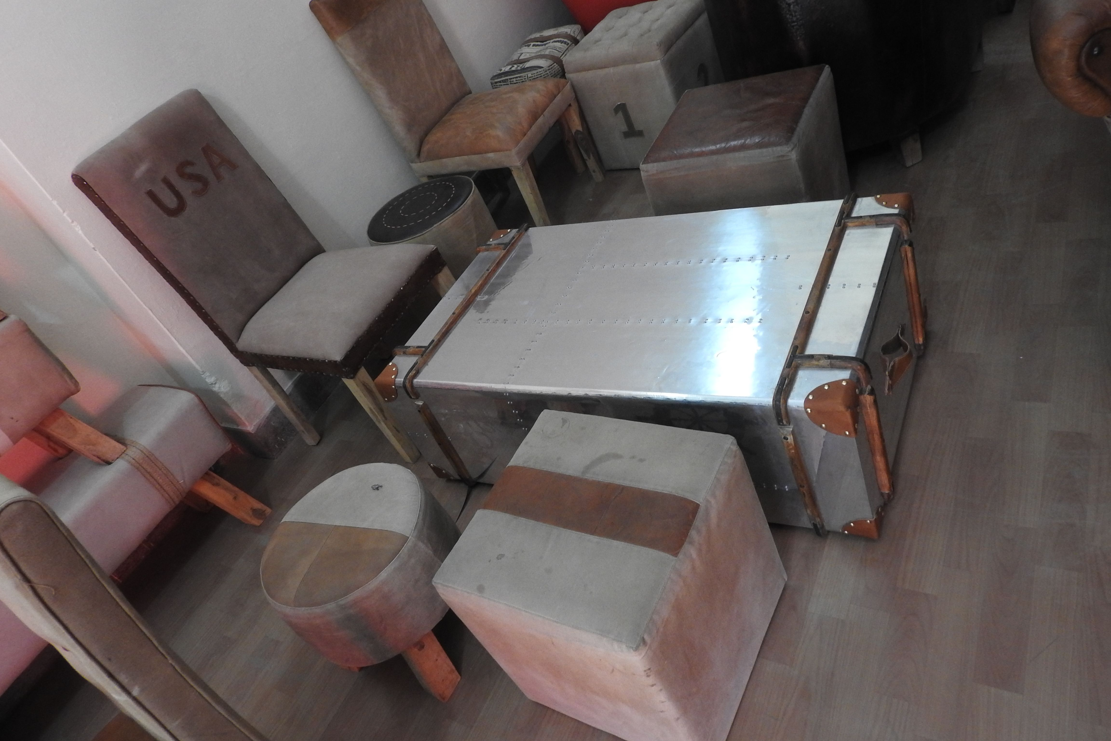 Aviator coffee table trunk dinning chair table puff aviator aviator coffee table trunk dinning chair table puff geotapseo Choice Image