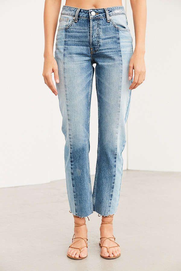 613365e6cc BDG High-Rise Straight + Narrow Jean - Two-Tone Denim | Pants ...
