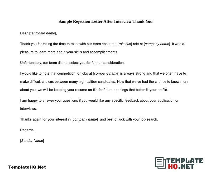 Thank You Letter To Recruiter 10 Tips For A Magnificent Sample Thank You Letter After Thank You Letter Lettering Letter After Interview