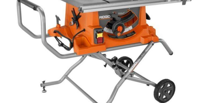 Ridgid R4513 Portable Table Saw Review