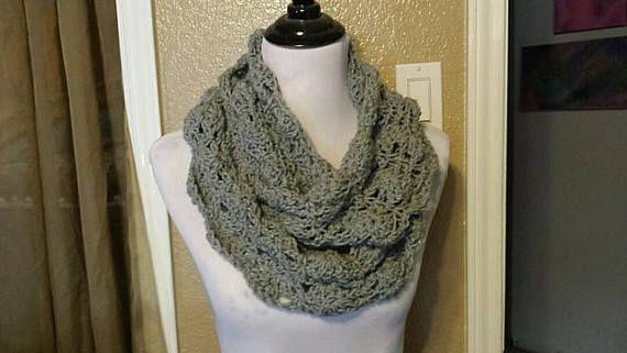 Crochet Pattern Glamorous Lace Cowl Pdf Diy Infinity Scarf