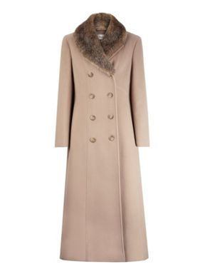 sleek clear and distinctive really cheap Precis Petite Long camel wool coat Neutral - House of Fraser ...