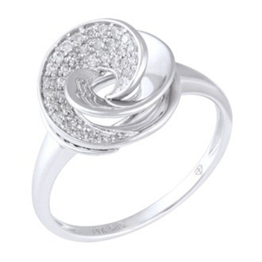 0.15 Carat Diamond 14K White Gold Women Rings 2.85g