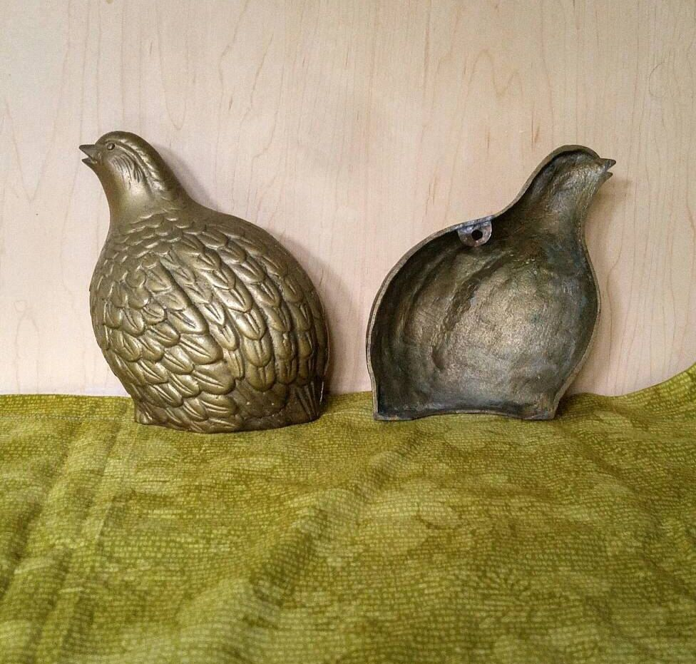 Brass Quail Wall Sculptures Vintage Carved Brass Wall Mount Quail ...