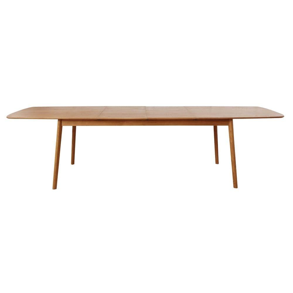 Table Extensible 12 Personnes.Table A Manger Extensible 8 A 12 Personnes En Chene L200 300