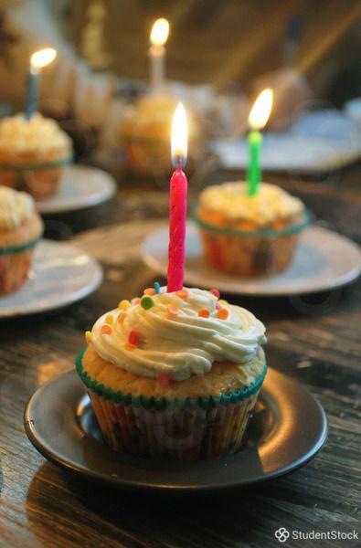 Birthday cupcakes on @studentstock