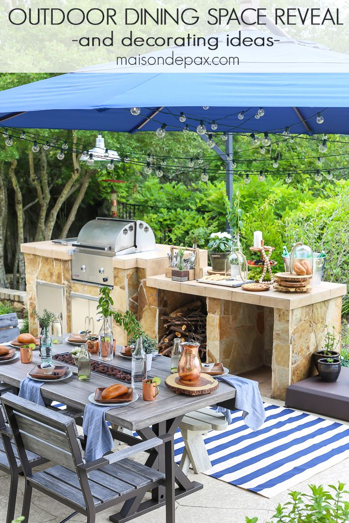 Summer Outdoor Dining Space Reveal Maison De Pax Patio Entertaining Outdoor Patio Outdoor Dining Spaces