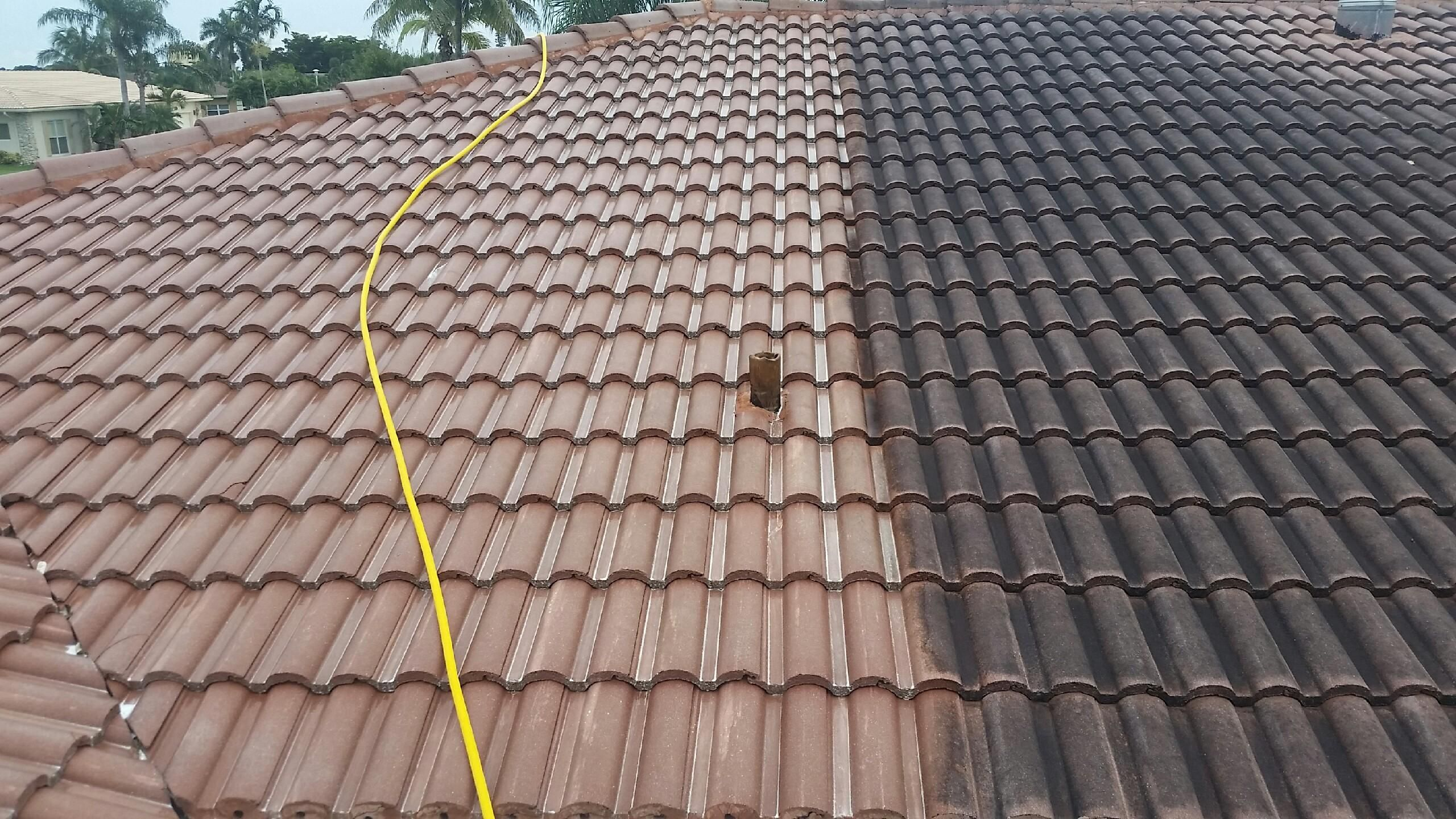 Can You Pressure Wash Clay Tile Roof In 2020 Roof Cleaning Roof Repair Clean Concrete