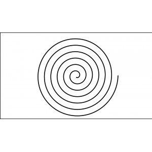 13 inch spiral quilting template quilt ez long arm 13 inch spiral quilting template quilt ez pronofoot35fo Images