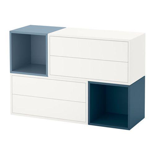 Eket Agencement Rangement Mural Blancbleu Clair Bleu
