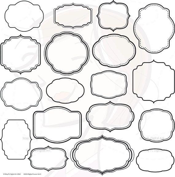 Digital Frame Clipart Shapes Clip Art Scrapbook Office Business ...